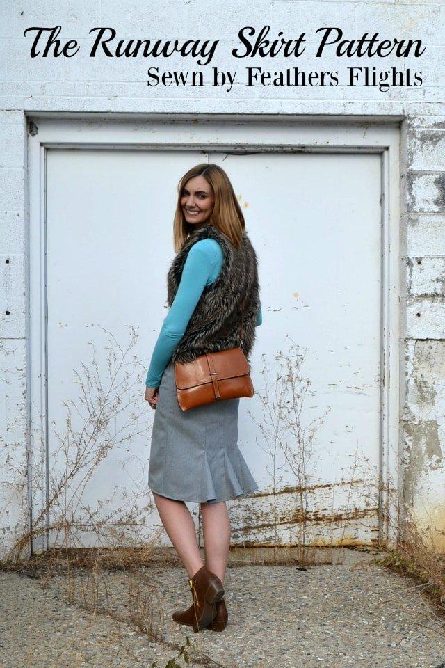 Me Made: A Gray Woven Runway Skirt Pattern