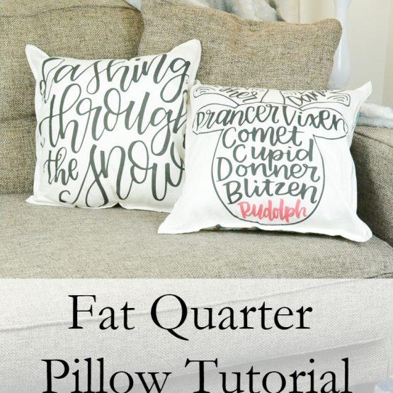 Fat Quarter Pillow tutorial // heatherhandmade.com