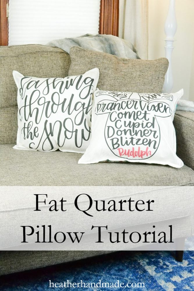 Fat Quarter Christmas Pillow Tutorial