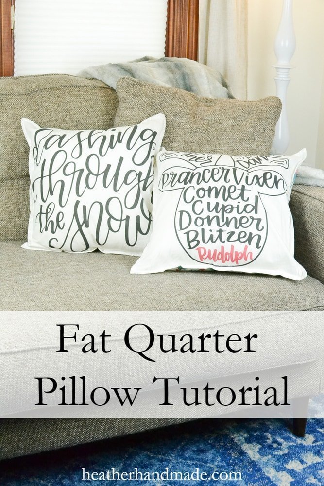 Fat Quarter Pillow tutorial // heatherhandmade.com
