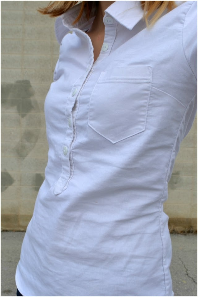 Me Made: White Linen Spandex Cheyenne