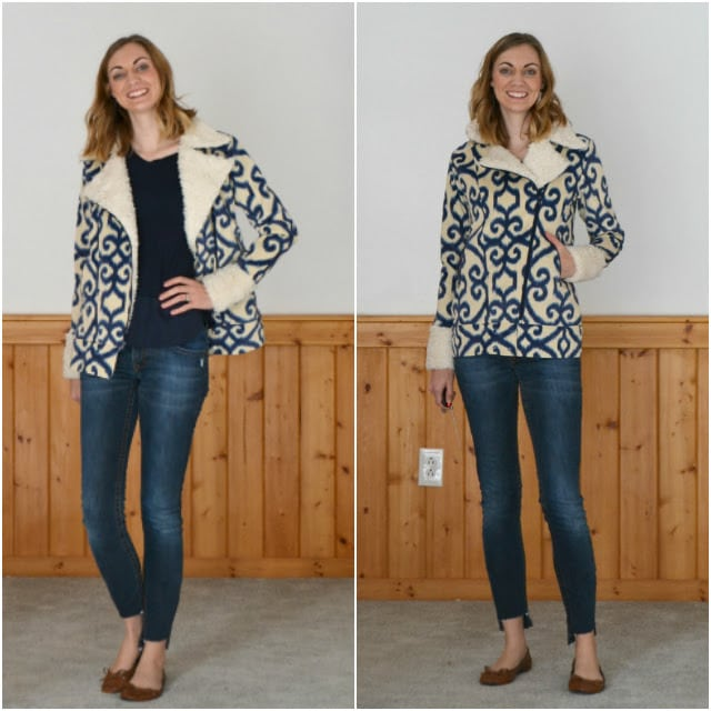 Me Made: Faux Suede Ikat Evergreen Jacket