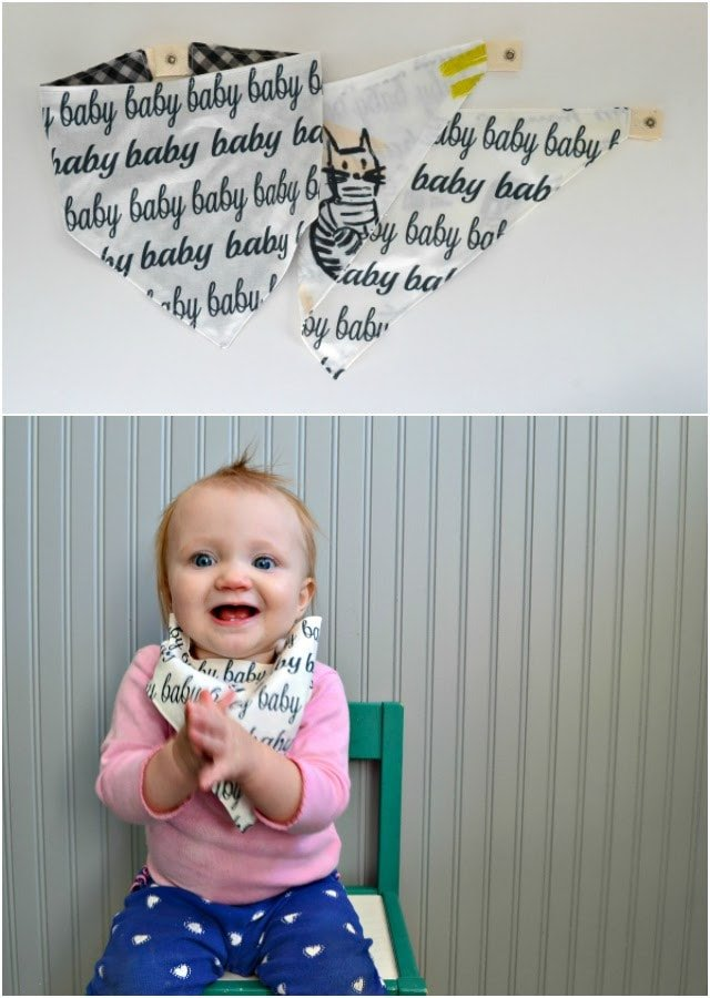 """BABY"" Snap Tape Bib: Free Pattern and Tutorial"