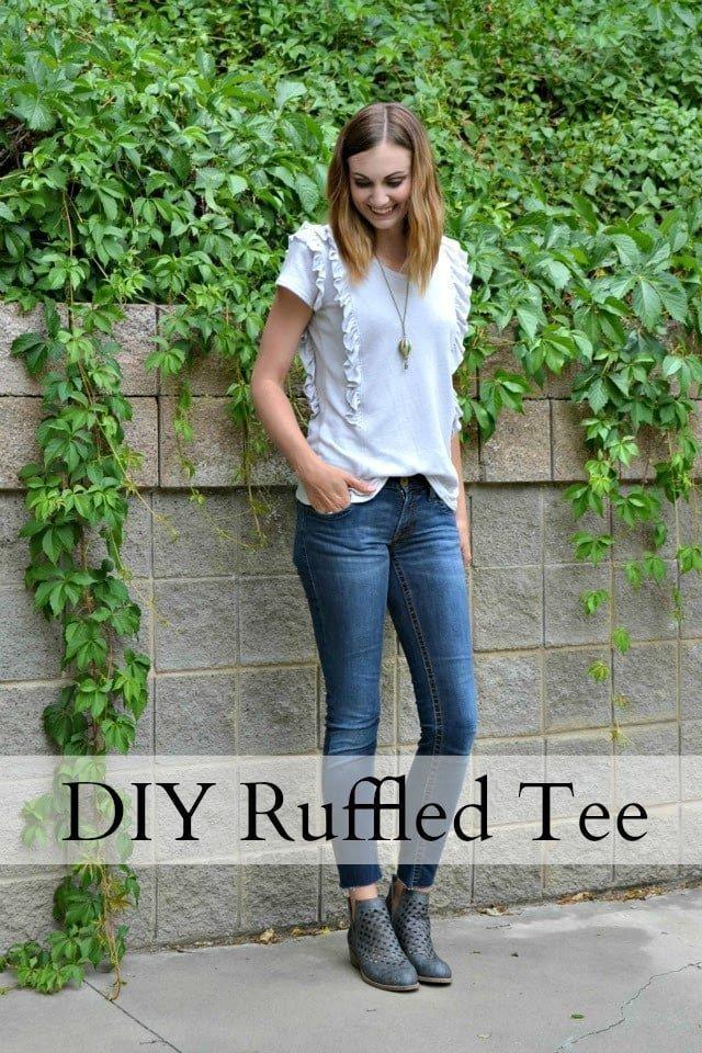 DIY Ruffled Tee