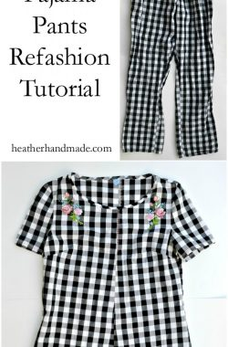 Pajama Pants Refashion Tutorial // heatherhandmade.com