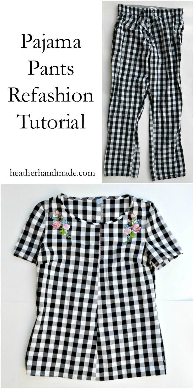 Pajama Pants Refashion Tutorial