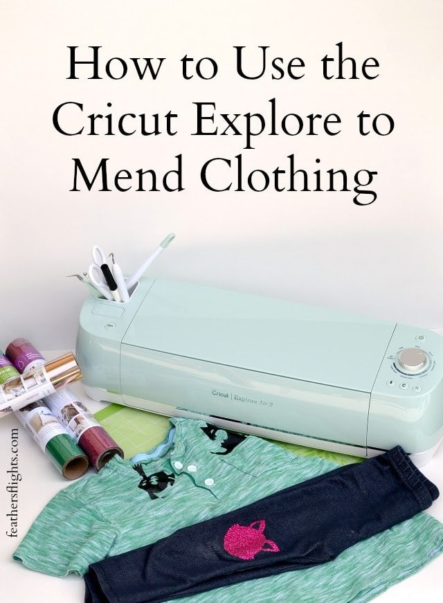 How to Mend Clothes with Cricut • Heather Handmade