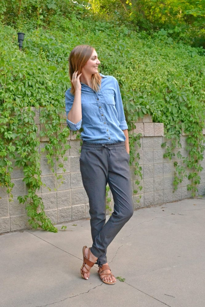 How to Make Woven Joggers with a Tie Hem // heatherhandmade.com