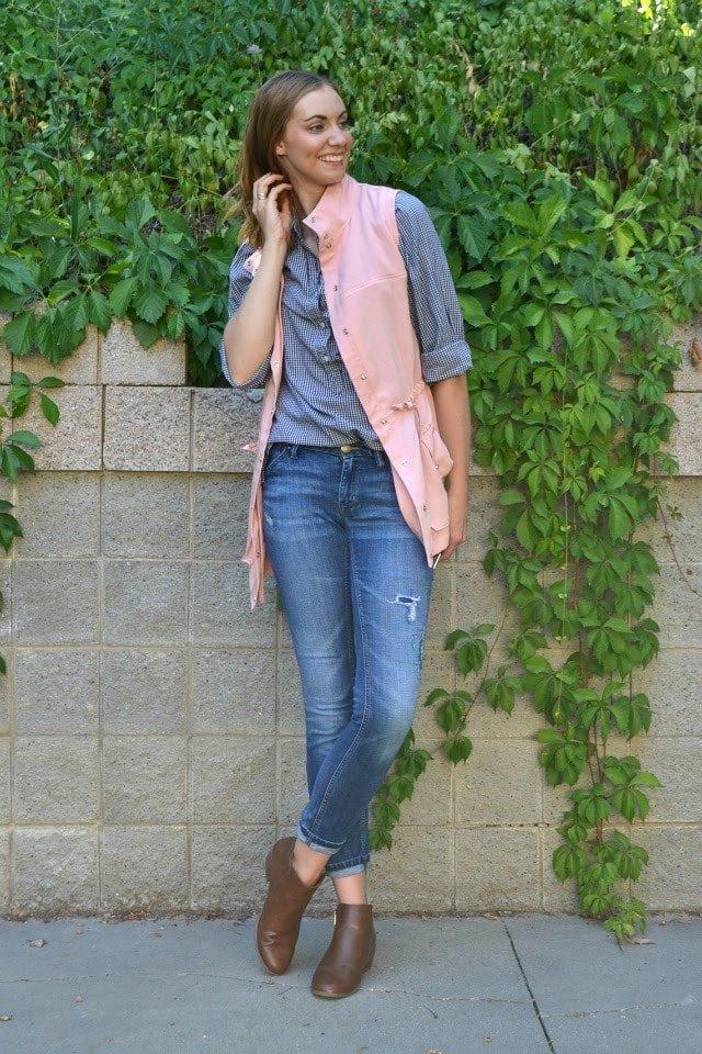 Pink Tencel Kelly Anorak Vest