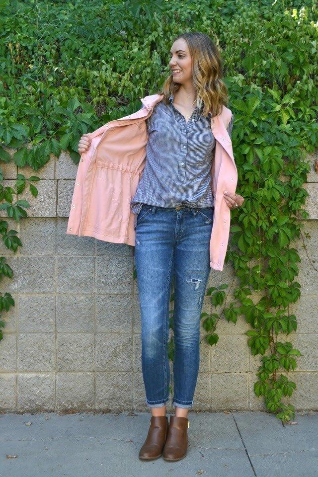 Me Made: Pink Tencel Kelly Anorak Vest