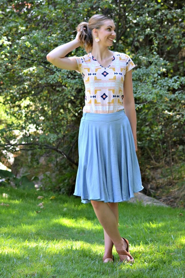Me Made: Modal Chambray Tania Culottes