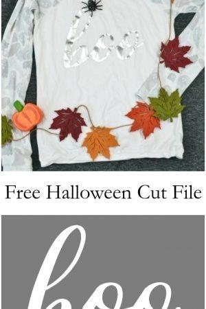 Free Boo Halloween Cut File // heatherhandmade.com