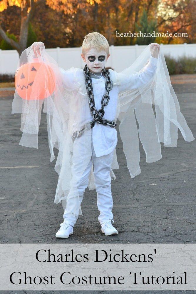 Charles Dickens' Ghost Costume Tutorial // heatherhandmade.com
