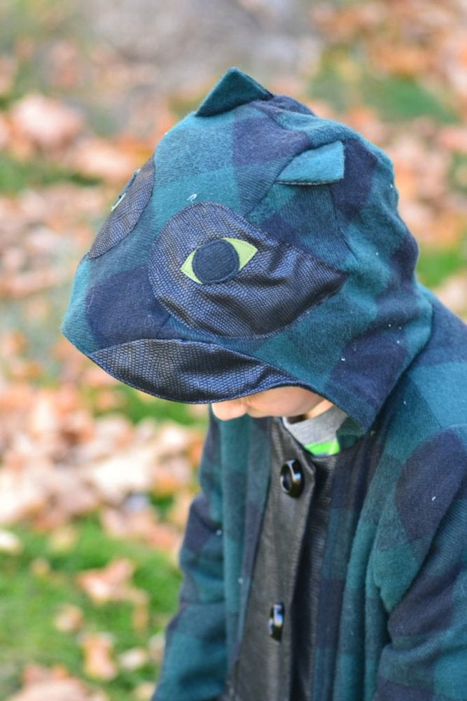 Boy Sewing: Boy Lizard Coat