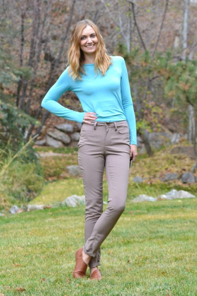 Liana Stretch Jeans - Heather Handmade