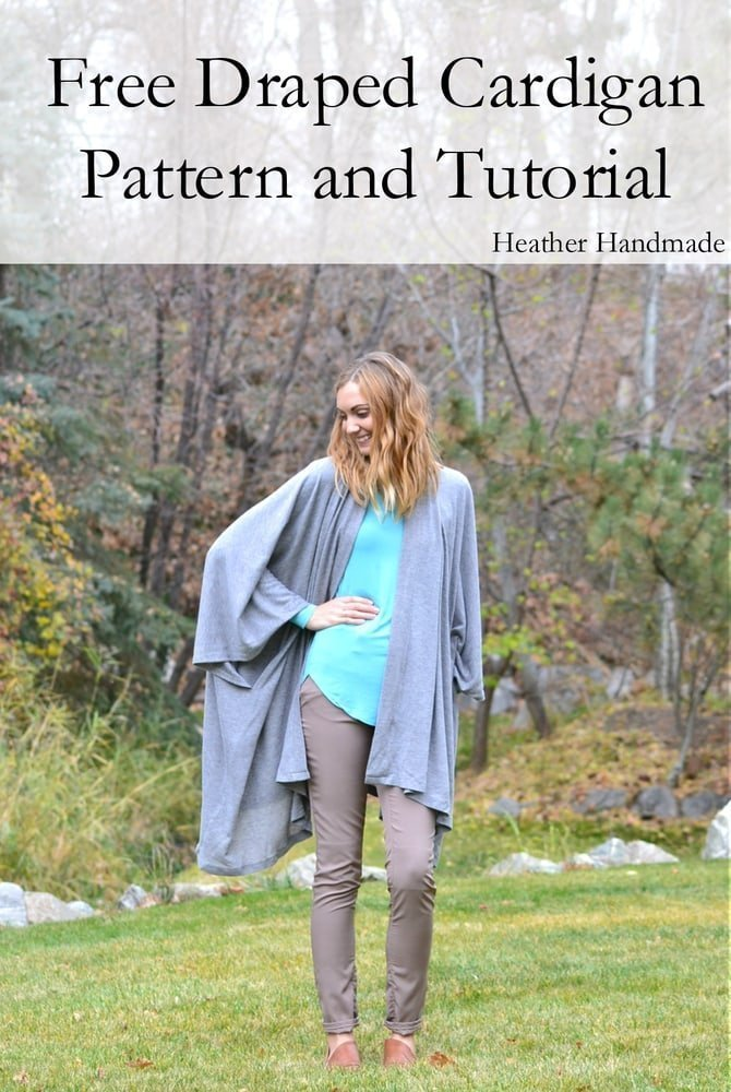 Free Cardigan Pattern and Tutorial - Heather Handmade