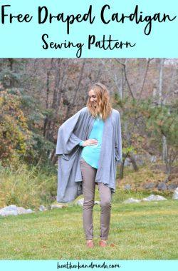free draped cardigan sewing pattern
