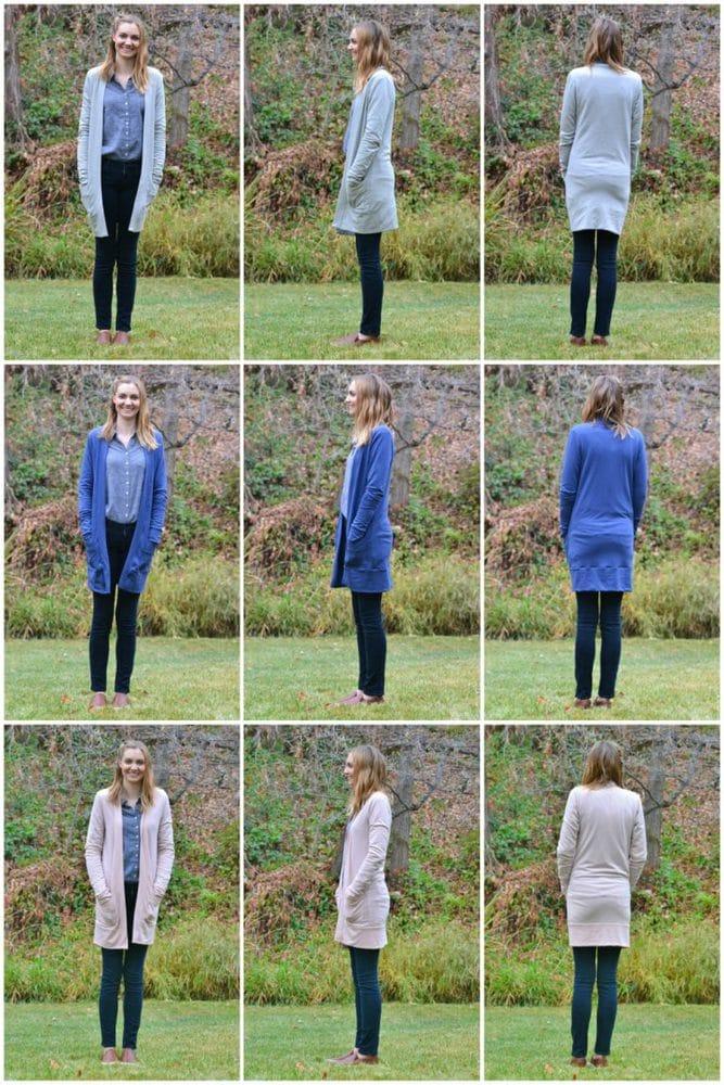 The Blackwood Cardigan in Three Different Fabrics