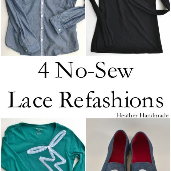 4 No-Sew Lace Refashion Tutorials - Heather Handmade