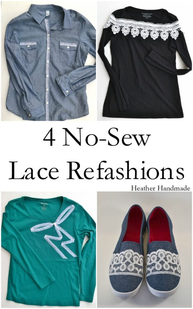 4 No-Sew Lace Refashion Tutorials + Giveaway