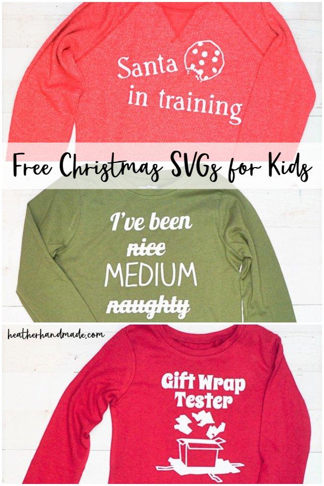 Free Christmas SVG for Kids