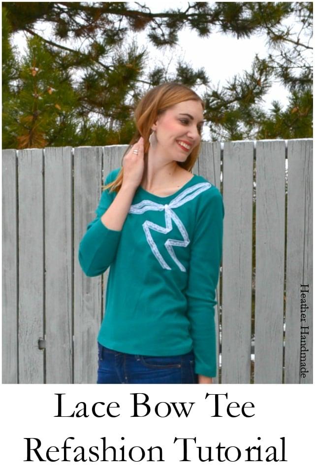 4 No-Sew Lace Refashion Tutorials - Heather Handmade