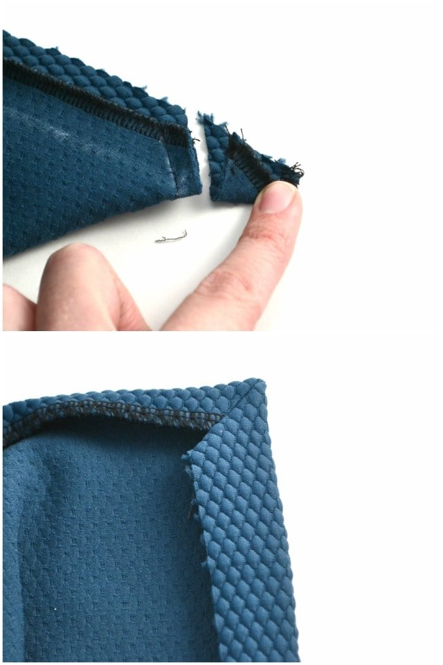 How to Sew a Split Hem with Mitered Corners - Heather Handmade