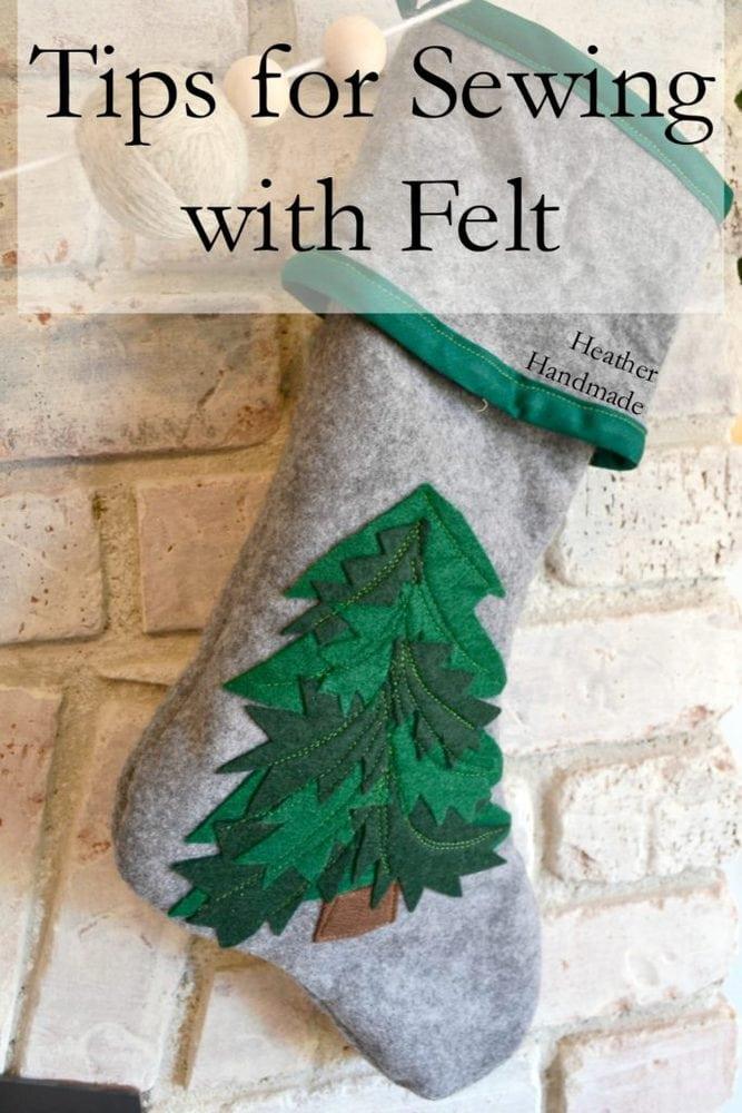Tips for Sewing with Felt + Christmas Felt Stockings // Heather Handmade