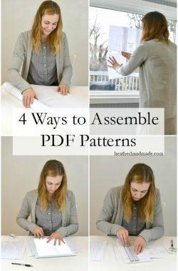 Ways to Assemble PDF Patterns // heatherhandmade.com