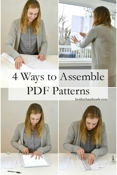 Ways to Assemble PDF Patterns // heatherhandmade.com
