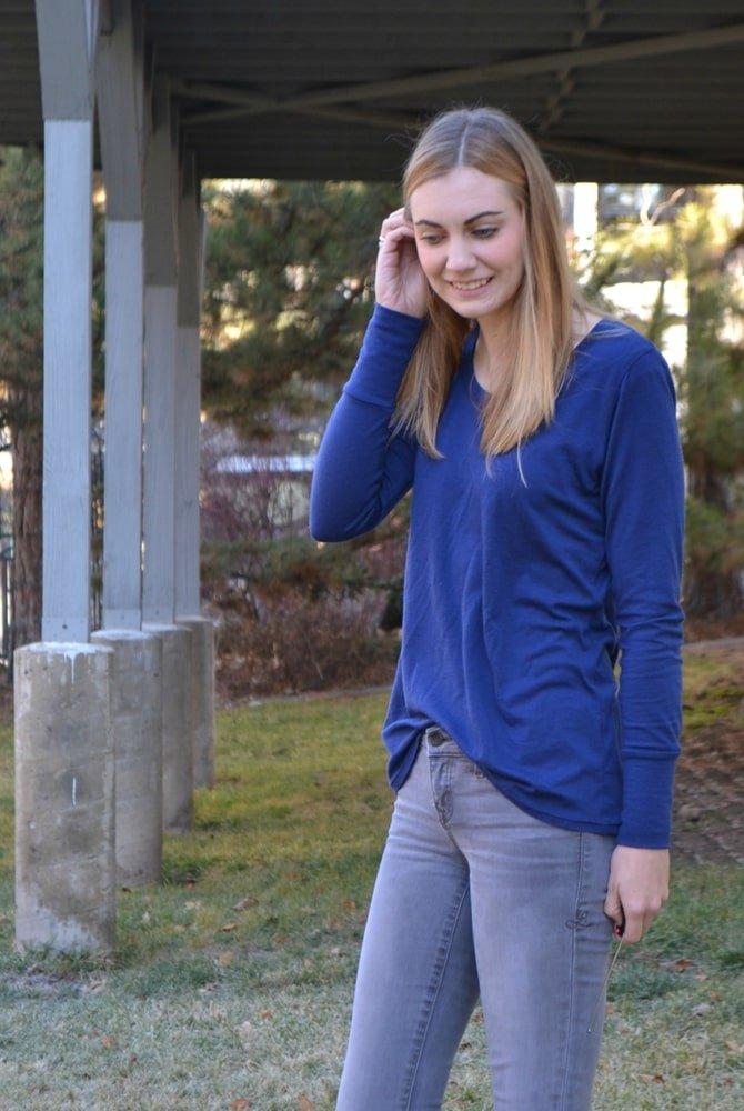 Wool Jersey Union St Tee // HeatherHandmade.com