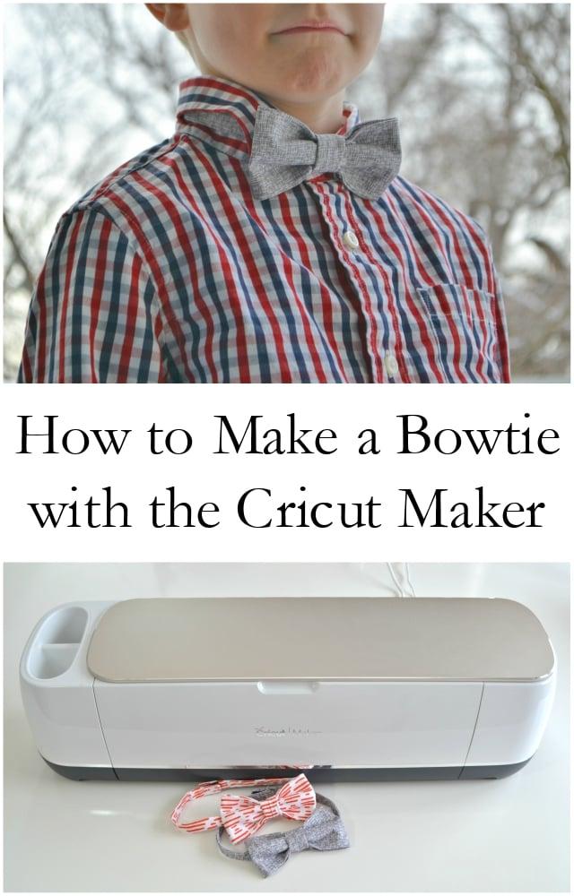 How to Make a Bowtie with the Cricut Maker - heatherhandmade.com