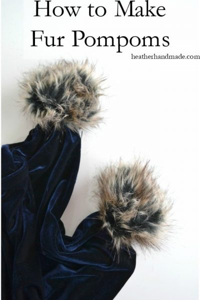 How to Make a Fur Pompom // heatherhandmade.com