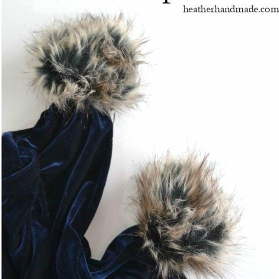 How to Make a Fur Pompom // heatherhandmade.com