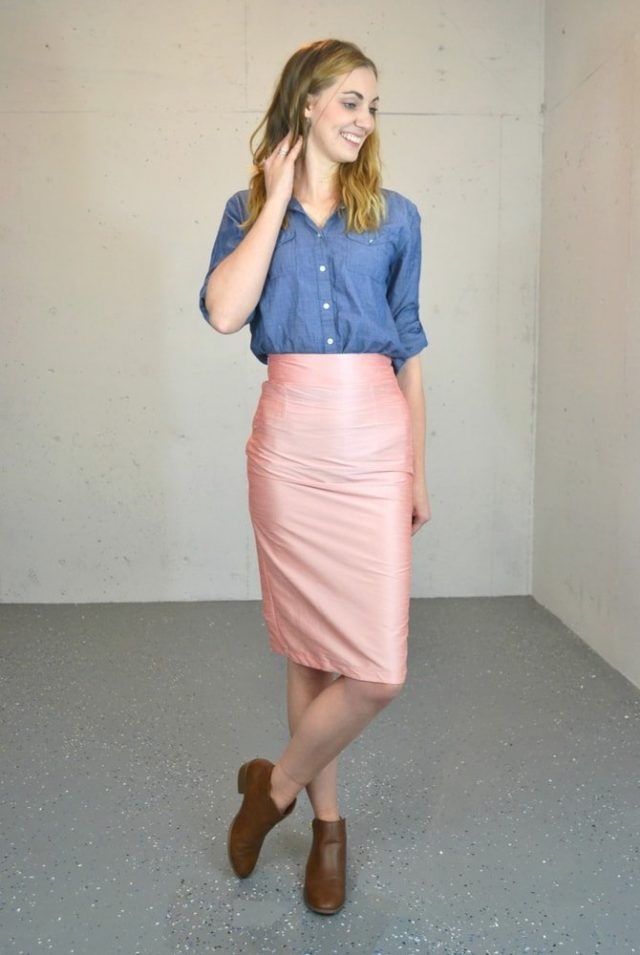 Pleated Pencil Skirt in Four Fabrics // heatherhandmade.com