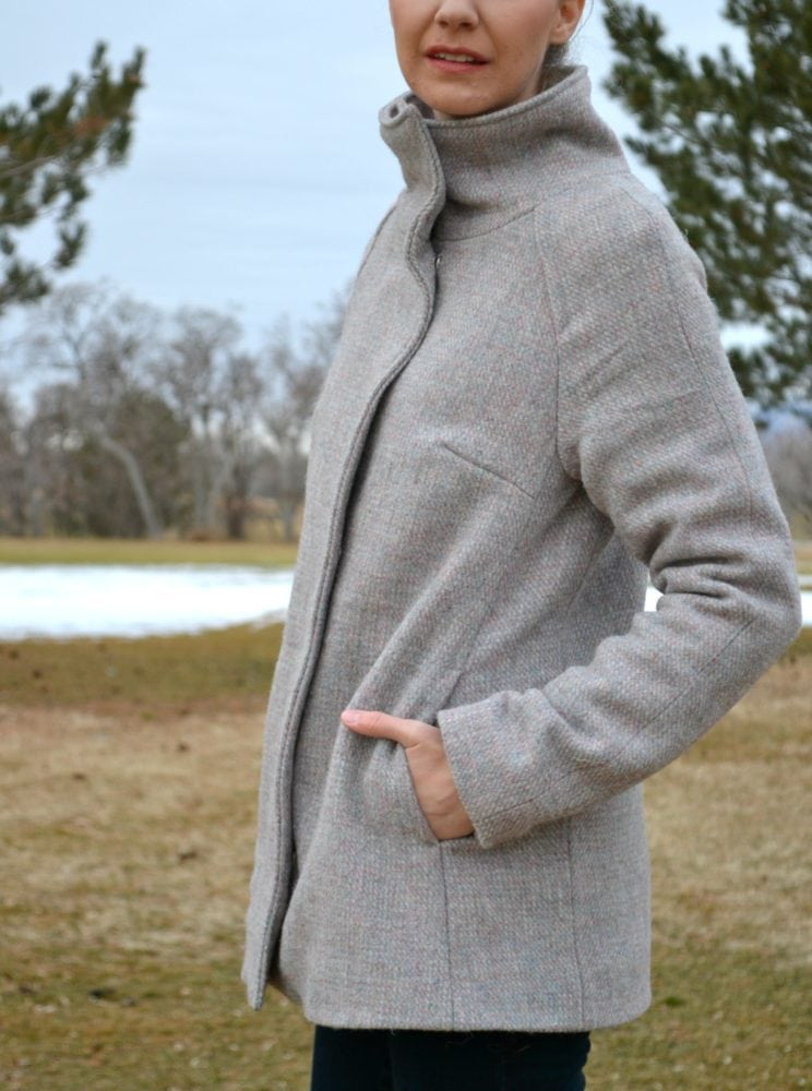 Harris Tweed Wool Clare Coat // heatherhandmade.com