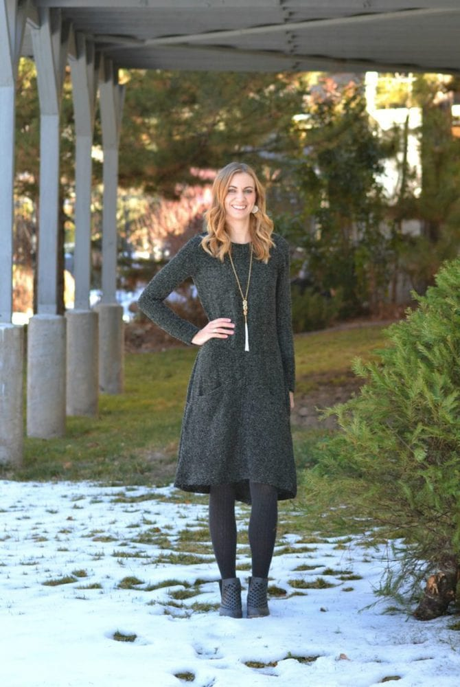 Striped Boucle Farrow Dress