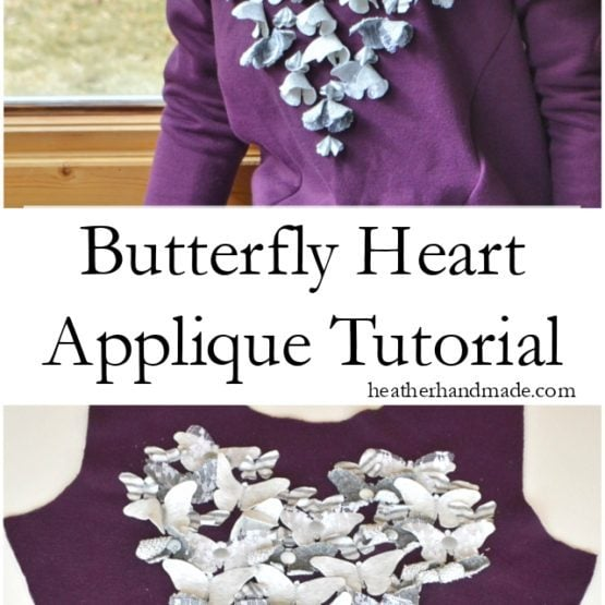 Butterfly Heart Applique Tutorial // heatherhandmade.com