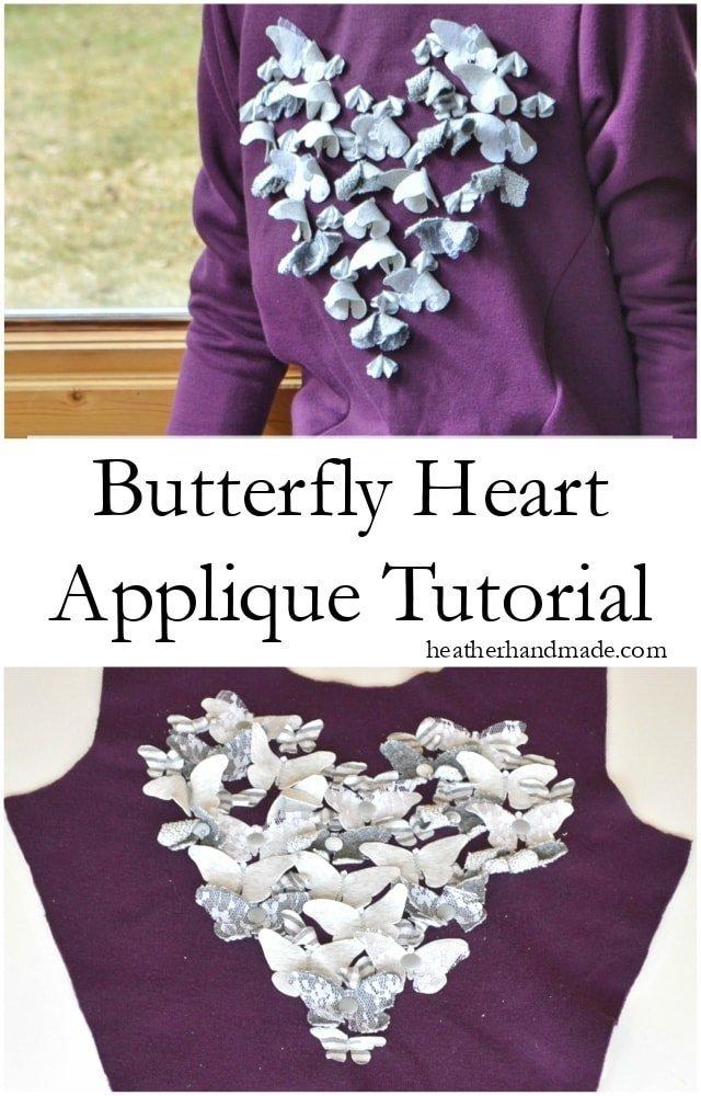 Butterfly Heart Applique Tutorial