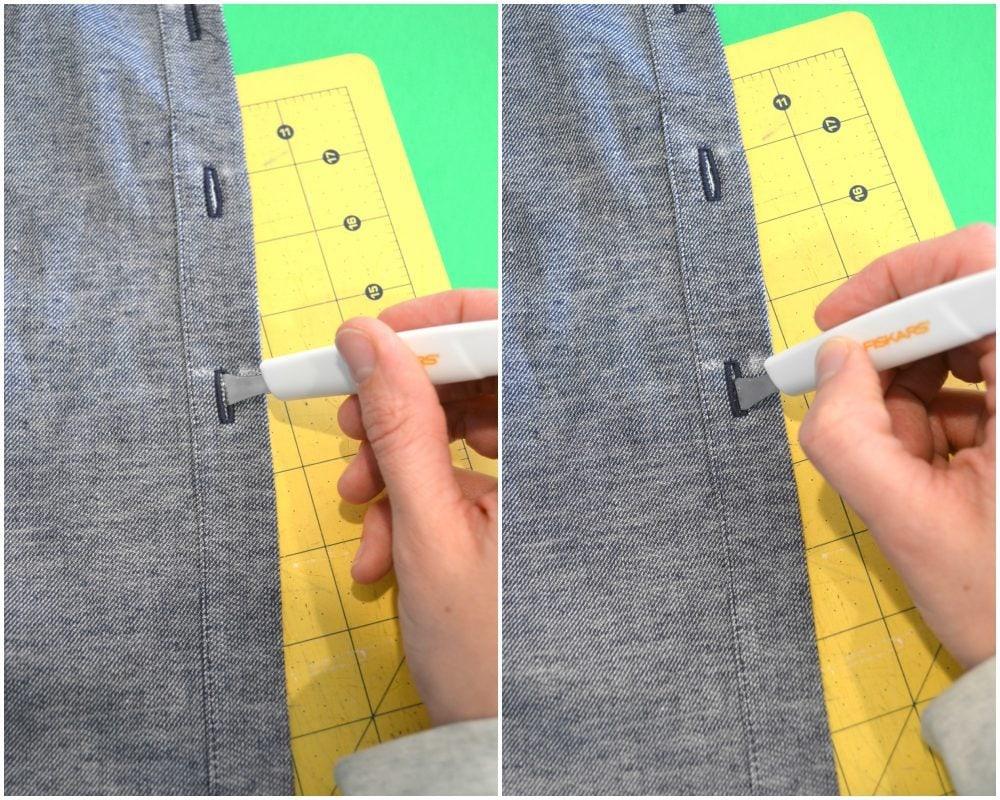 3 Ways to Open a Buttonhole // heatherhandmade.com