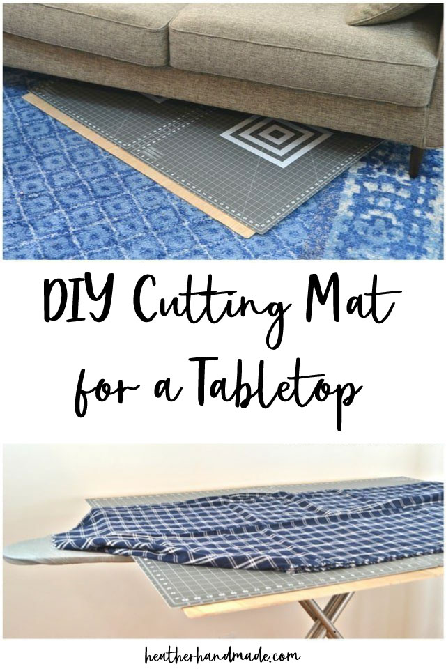 diy cutting mat for a tabletop