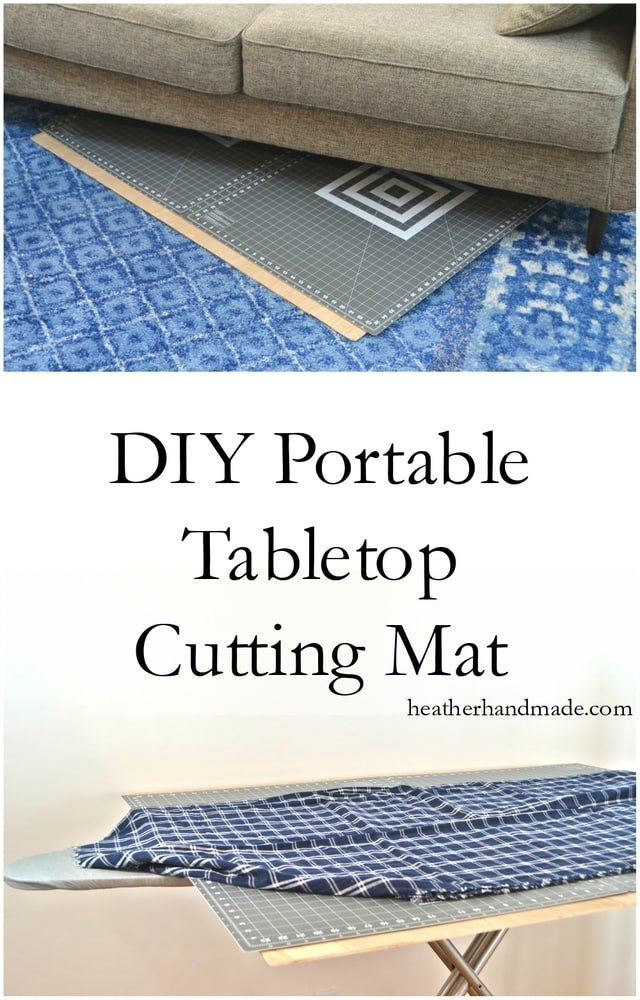 DIY Portable Tabletop Cutting Mat // heatherhandmade.com