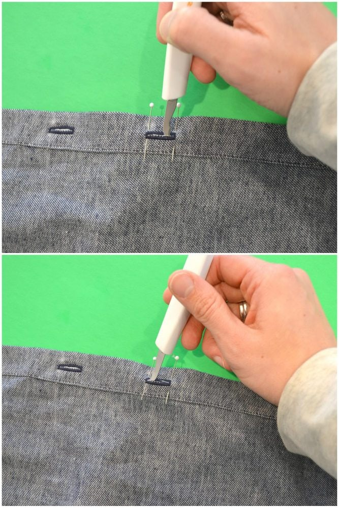 3 Ways to Open a Buttonhole // heatherhandmade.com