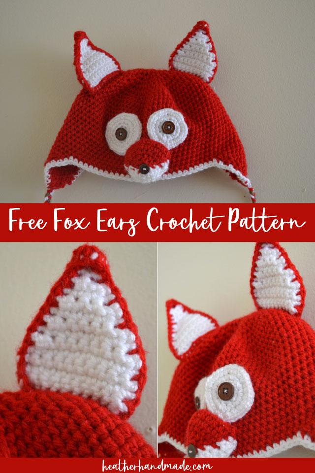 free fox ear crochet pattern