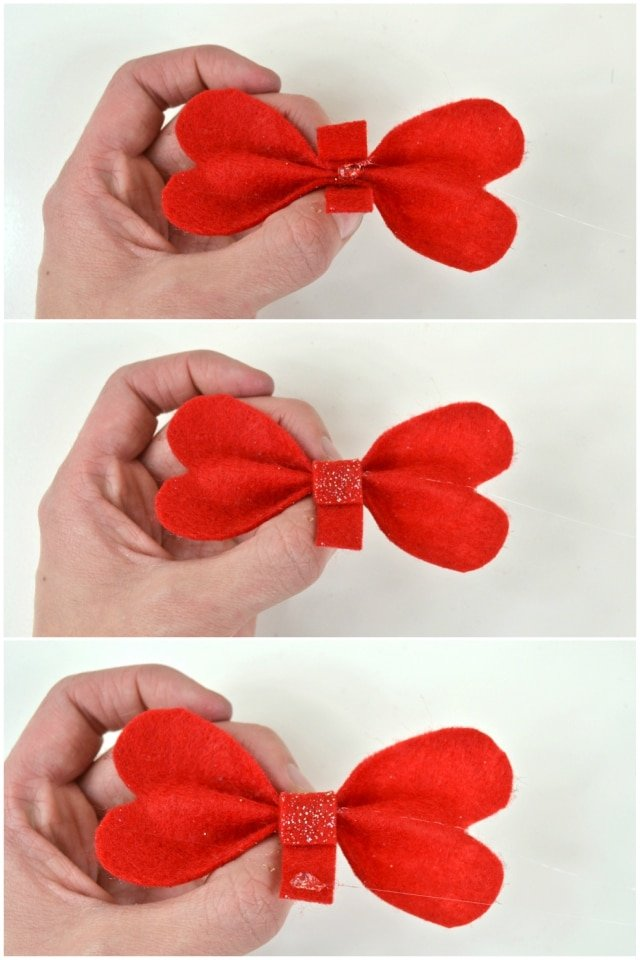 Heart Bow Tutorial nad Free Pattern // heatherhandmade.com