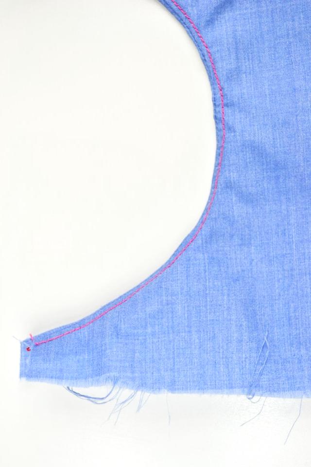 understitch a curved seam