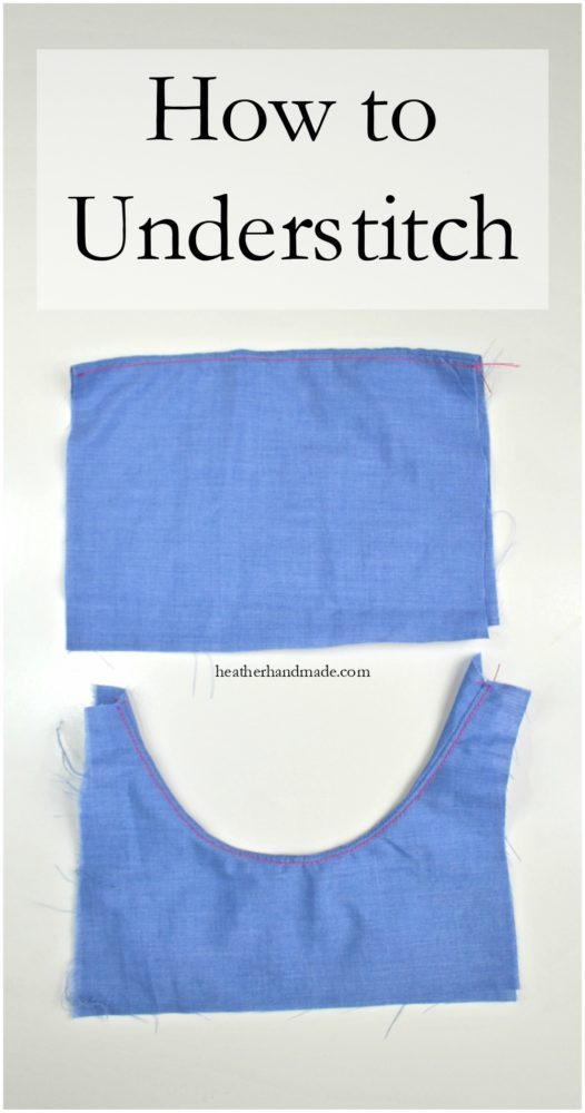 How to Understitch // heatherhandmade.com