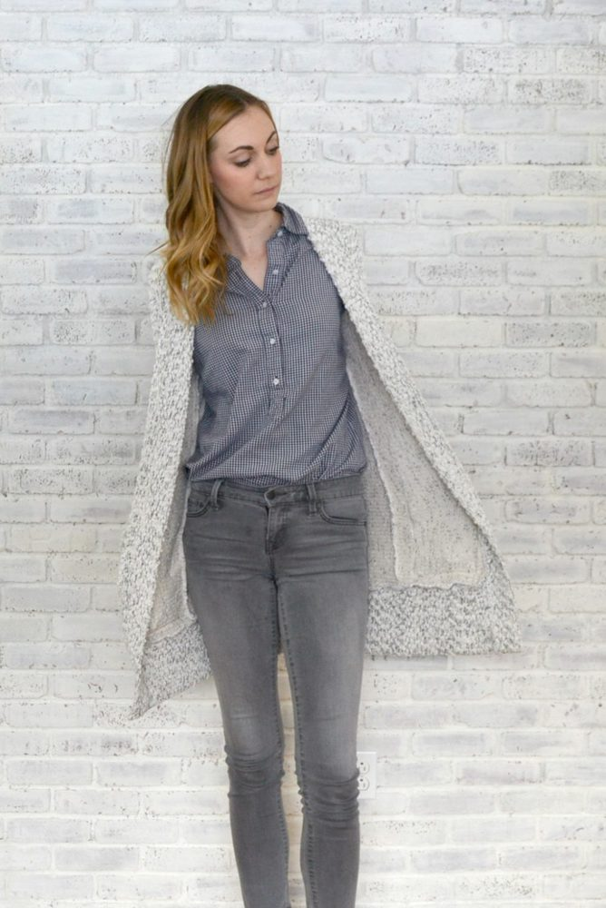 White Sweater Blackwood Cardigan // heatherhandmade.com