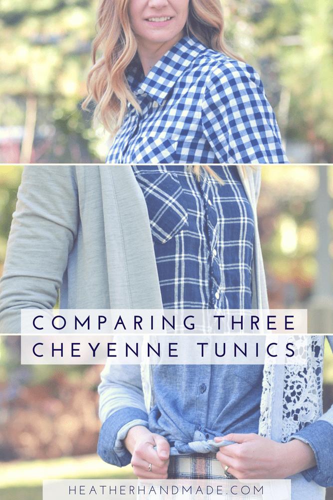 Comparing The Cheyenne Tunic in Three Fabrics