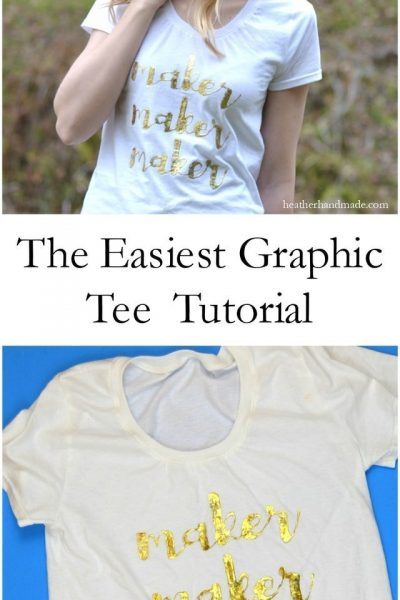 The Easiest Graphic Tee Tutorial // heatherhandmade.com